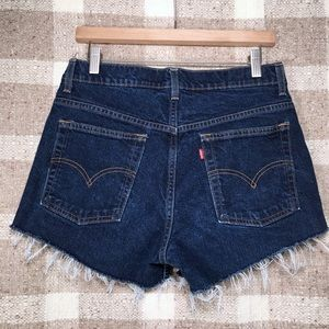 Vintage Levi's 515 dark wash denim shorts